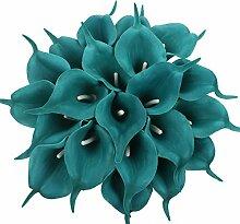 Xiuer 20 Kunstblumen Sumpf-Callas aus Latex,