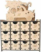 XiuginFU Weihnachtlicher Countdown Adventskalender