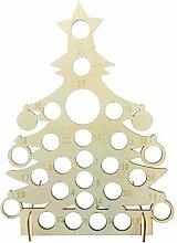 XIuginFU Weihnachts-Adventskalender aus Holz,