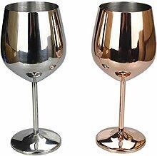 XIUJINGHONG Rotweinglas Silber Roségold 2