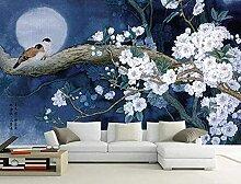 XiuTaiLtd Akribische Blume Und Vogel Mond Nacht