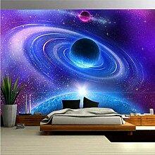 XiuTaiLtd Fototapete 3D Effekt Kosmischer Planet