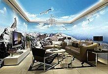 XiuTaiLtd Fototapete 3D Schnee - Berg Panorama