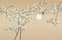 XiuTaiLtd Geprägte Blumen Und Vögel Retro Seide