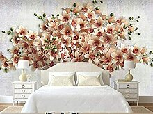 XiuTaiLtd Geprägte Blumenbüschel Seide Tapete 3D