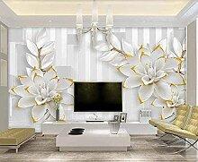 XiuTaiLtd Geprägte Weiße Blumenstreifen Seide