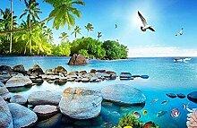 XiuTaiLtd Insel Seelandschaft Kokosnussbaum Möwe