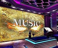 XiuTaiLtd Music Retro Seide Tapete 3D Wallpaper