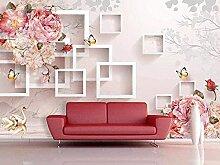 XiuTaiLtd Rosa Blume Schmetterling Geometrie Seide