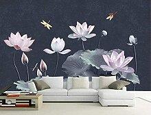 XiuTaiLtd Rosa Lotus Lotusblatt Seide Tapete 3D
