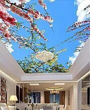 XiuTaiLtd Tapete Decke Kirschblüte Blue Sky