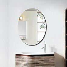 Xiuxiangianju Badezimmerspiegel dekorative Spiegel Badezimmer Luxus-Badezimmer-Spiegel anti-fog wasserdichte ovale Spiegel Schminkspiegel