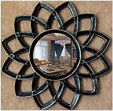Xiuxiangianju Europäische Retro tun das alte Badezimmer-Spiegel-Wand-amerikanisches ländliches Hintergrund-Wand-Spiegel-Durchmesser 78cm / 3cm Dick / Objektiv-Durchmesser 30cm (OY-209) , B