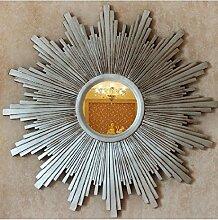 Xiuxiangianju European Style American Country Wind Nordic Xuan Guan Spiegel Sonnenbrillen Wand verziert Dekoriert zwischen den Modellen verzierten Kreisspiegel (OY-622) , A