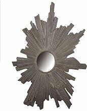 Xiuxiangianju European Style Upscale Bar Eingang Wand Wand Harz Sun Modeling Dekorative Make-up Dressing Spiegel reinen manuellen Prozess Rahmen 57 * 76 * 3cm Objektiv 14cm (OY-576) , a , 57*76*3cm
