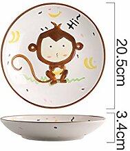XIUXIU Cartoon Tier Kreative Keramik Kind Geschirr