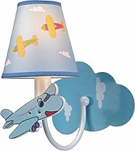 xiuxiu Kinderzimmer Cartoon Flugzeug Wandlampe