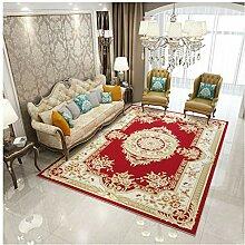 XiuXiu Moderne rote gedruckte Teppich Schlafzimmer