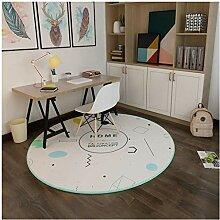 XiuXiu Runder schlanker minimalistischer Teppich