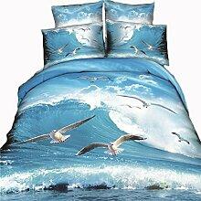 XIXI Baumwolle 3D Sätze Von Baumwolle Twill Pastoral Tiere 3D Stereotypen Bettwäsche Heimtextilien ( B 250*270 220*240 Bed Quilt )