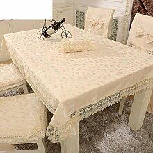 XIXI Landtisch Stoff Stoff / Tischtuch / Pastoral Einfachheit Tischtuch-N 130X180Cm (51X71Inch),A, 90x90cm (35x35inch)