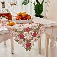 XIXI Ly Kleine Florale Tischdecke Stoff / Restaurant Quadratische Runde Tischtücher für Den Hausgebrauch / Tischdecke-I 140X140Cm (55X55Inch),A, 38x135cm (15x53inch)