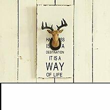 XIXI Retro Deer Kopf Kreativ Wandmontage Typ Dekoration-B,B
