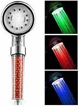 XIYUNTE LED Duschkopf LED Shower LED Brausekopf