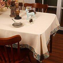 XJ&DD Stoff-Tischdecke,Amerikanischen Baumwolle