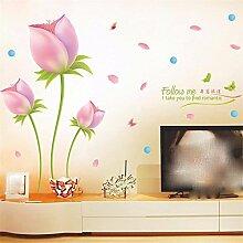 XJKLFJSIU Aufkleber Wohnzimmer Fernsehhintergrund Schlafzimmer Nachtwandaufkleber Wandaufkleber Blume Restaurant, L