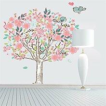 XJKLFJSIU Bunte Blüten Dekorative Wandaufkleber Kinderzimmer Schlafzimmer Aufkleber Wandraum-Wandaufkleber Leben, 100 * 90Cm