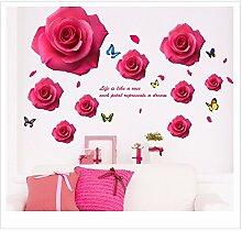XJKLFJSIU Flur Wandaufkleber Schlafzimmerwandaufkleber Wand Raum Hintergrund Aufkleber Leben, G