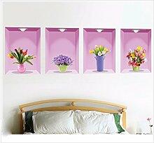 XJKLFJSIU Flur Wandaufkleber Schlafzimmerwandaufkleber Wand Raum Hintergrund Aufkleber Leben, A