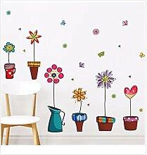 XJKLFJSIU Flur Wandaufkleber Schlafzimmerwandaufkleber Wand Raum Hintergrund Aufkleber Leben, E