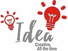 XJKLFJSIU Inspiration Wandaufkleber Kreative Aufkleber Corporate Büro Wohnzimmer Schlafzimmer Tapeten Wandbilder Personalisierten Dekorative Selbstklebend, Lichtgrau, 90 * 68Cm