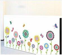 XJKLFJSIU Kinderschlafzimmerwandaufkleber Cartoon-Shell Glasfensterwand Aufkleber, 160 * 56Cm