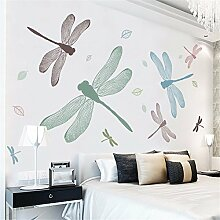 XJKLFJSIU Libelle Schlafzimmer Nacht Aufkleber Wand Hintergrund Raum Sofa Aufkleber Leben, 250 * 150Cm