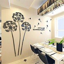 XJKLFJSIU Moderne Pflanze Blumen Wandaufkleber