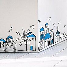 XJKLFJSIU Ornaments Aufkleber Wand Zimmer Korridor Korridor Treppenwohnsockelecke Wohnzimmer Hintergrundaufkleber