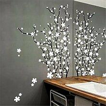 XJKLFJSIU Plum Baum-Wand-Aufkleber Schlafzimmer Wohnzimmer Eingangsbereich Wandaufkleber Wandaufkleber , A1