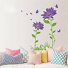 XJKLFJSIU Schlafzimmer Bett Warme Blumen Aufkleber Wand Sofa Im Wohnzimmer Wandaufkleber , B2
