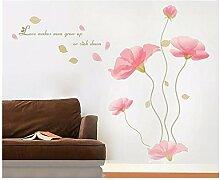 XJKLFJSIU Schlafzimmerschrank Wandaufkleber Zimmer Flur Wohnzimmer Speise Blumen-Wand-Aufkleber, 200 * 180Cm