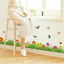 XJKLFJSIU Wohnzimmer Fußleiste Aufkleber Veranda Schlafzimmer Dekorative Wand Wandaufkleber