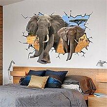 XJKLFJSIU Wohnzimmer Schlafzimmer Sofa Einstellung Kreative 3D Wandtattoo Home Dekor Aufkleber B