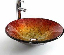 XJTNLB Aufsatzwaschbecken Waschschale Gehärtetes