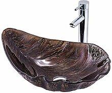 XJTNLB Aufsatzwaschbecken Waschtisch Waschbecken