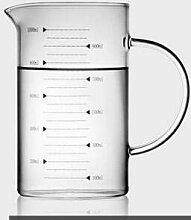 XJYJF Becher Sglass Messbecher Milchkännchen Cafe