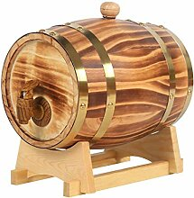 XJZKA Holz Weinregal Barrel, Holz Whisky Barrel