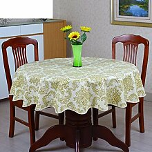 XKQWAN PVC Runde Tischdecke Runde Tischdecke Für Hotels Wasserdicht ?lbest?ndig Wegwaschen Anti-hot Hausgebrauch Kunststoff Runde Tischdecke Tabelle Tuch-Q Durchmesser180cm(71inch)