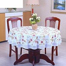 XKQWAN PVC Runde Tischdecke Runde Tischdecke Für